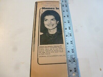 Vintage Wire Press Photo-Jackie Kennedy-Onassis Help Save Lever House NY 1980's for sale  Shipping to Canada
