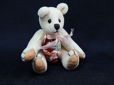 "World of Miniature Bears 2.5"" Plush Birthday Bear June #591 Collectible Bear"