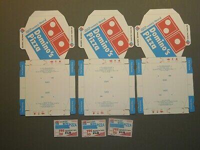 3 Easy Fold Dominos Pizza Boxes for 1/6 Scale Action Figures (unfolded) comprar usado  Enviando para Brazil