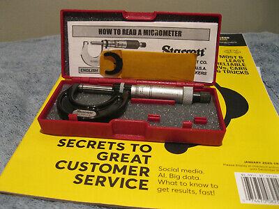 Starrett 436xrl-1 Micrometer Carbide .001 Machinist Tools