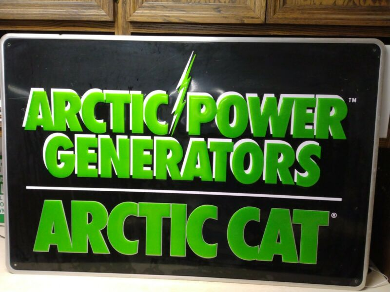 Arctic Cat Power Generators metal signage