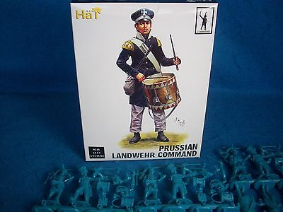 HAT#9325 Napoleonic PRUSSIAN Landwehr (Command) Toy Soldiers,(54MM) 18 figures (Hat Toy Soldiers)