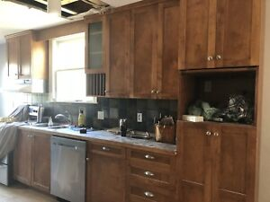 Kitchen cabinet uppers, pantry and fridge panels