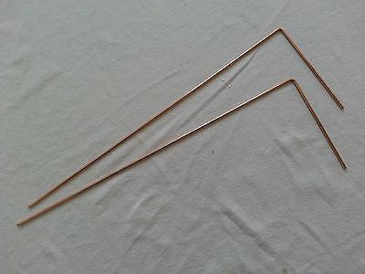 Winkelrute Wünschelrute Radiästhesie 2 Winkelrute Kupfer Feng Shui Anleitung NEU