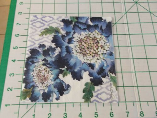 """Two Decorative Luncheon Napkins for Decoupage """"Blooming Blue"""""""
