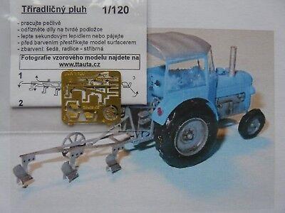 TTA52 Spur TT Komplettbausatz 1 Stück alter Pflug mit 3 Scharen Messingbausatz