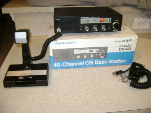 Realistic Navaho TRC-433 40 Channel CB Base Station w/Amplified Desk Mike