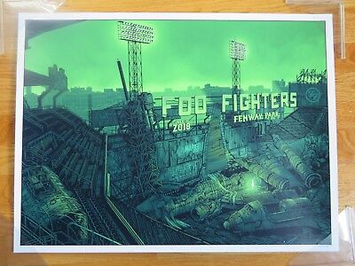 FOO FIGHTERS July 21 2018 FENWAY PARK LTD 500 Concert Poster Dave Grohl RED SOX