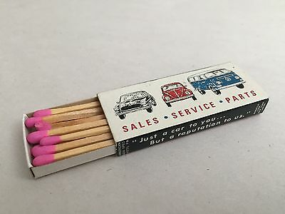 RARE VINTAGE VW Volkswagen Aircooled Matchbox Matches Beetle Bus Ghia Type3 Bug