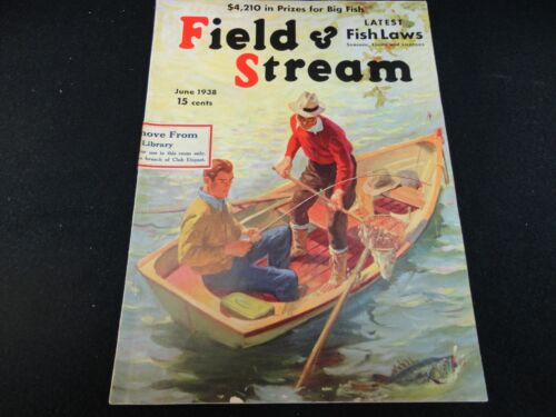 Field and Stream Magazine June 1938 Vintage Issue- Free Shipping!