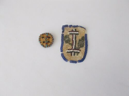 2 Native American? Beadwork Items~~Pin & Patch