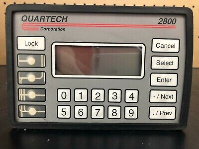 Quartech 2800-0-b 24vdc Operator Interface With Led Backlit