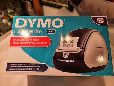 Dymo Labelwriter 450 Turbo Label Thermal Printer - Black 1752265 With Labels