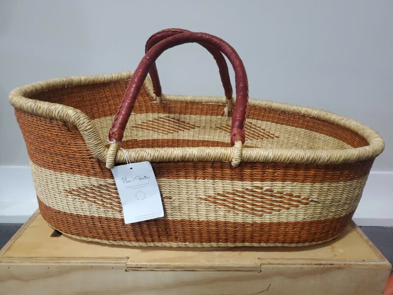 Plum + Sparrow Moses Baby Basket Hand Woven Bassinet carrier **Read