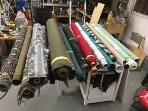 Assorted upholstery fabric and ends