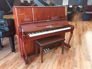 Yamaha Refurbished W106B 131cm Walnut Upright Piano Made in Japan