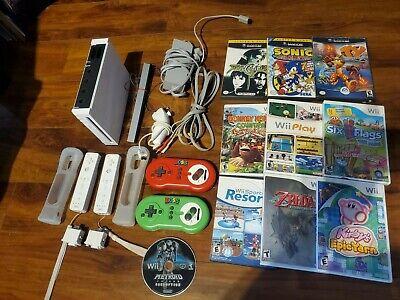 Nintendo Wii Bundle with 10 games, gamecube, sports resort, zelda