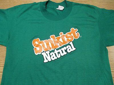 80 Medium Natural (NOS vintage 80s SUNKIST NATURAL SODA T-Shirt MEDIUM orange pop surf beach thin)
