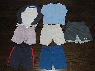 Lot of 7 Boys Shorts Swim Trunks Rash Guards Crewcuts Nike Tea sz 3 4 5 toddler, used for sale  Darien