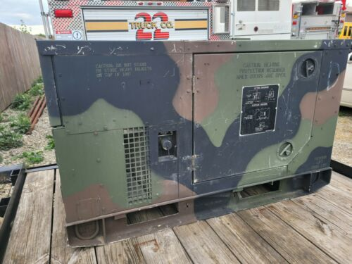 Fermont 2009 MEP-803A 10kW Military Generator  1 and 3 Phase 60hz