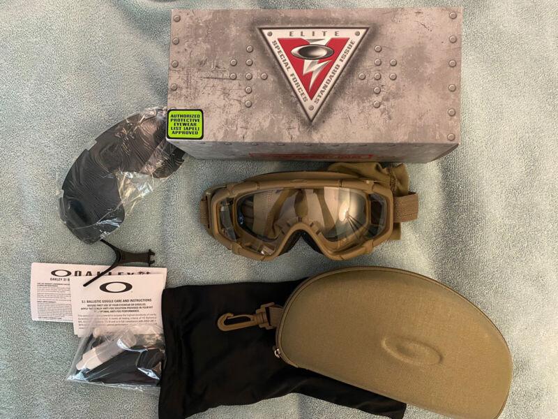 Oakley Standard Issue Ballistic Goggle 1.0 Terrain Tan 53-114 4240-01-630-6910