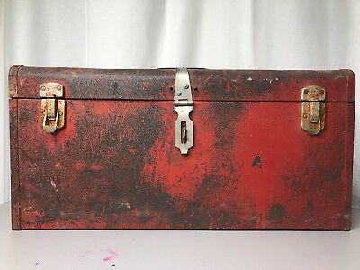 VTG KENNEDY KITS TOOLBOX TOOL BOX STORAGE TACKLE MODEL K-20 RED, used for sale  Tomball