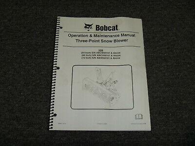 Bobcat 3sb Three 3 Point Snowblower Owner Operator Maintenance Manual