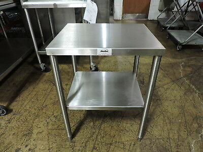 Commercial Stainless Steel Work Table With Undershelf - 24 X 20