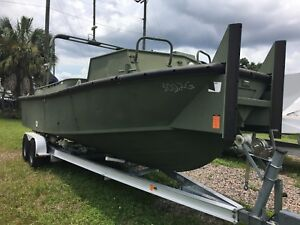 2008 26ft. MKII S Bridge Erection Boat Hull only - All Aluminum