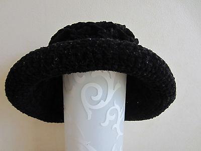 Chapeau noir en laine