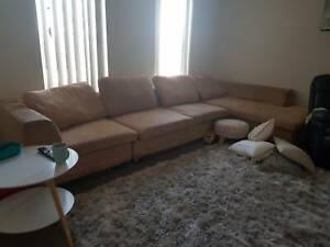 Tan corner couch