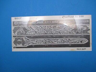 Разное Vintage Billfold Pattern/Template For Belt