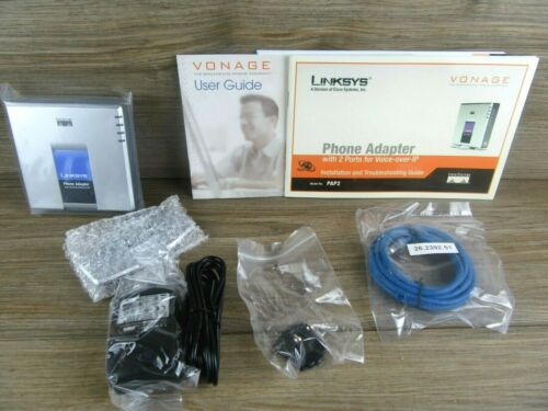 Linksys Model PAP2 Phone Adapter for Vonage VoIP Phone Service Excellent Cond