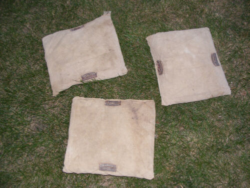 3~~Vintage ANTIQUE Canvas Baseball Bases Bags  Set of 3