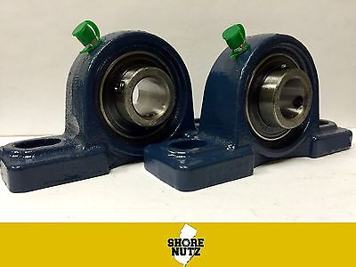 2 Pieces 1-38 Pillow Block Bearing Ucp207-22 Solid Base P207