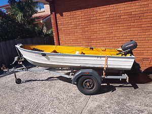 Tinny 12ft with 5hp Johnson outboard Fairy Meadow Wollongong Area Preview