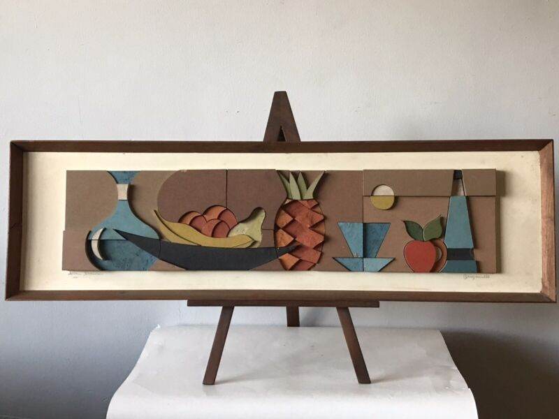 ALLEN NOONAN MID CENTURY MODERN CUBIST WALL ART SCULPTURE 1960 VINTAGE EAMES ERA