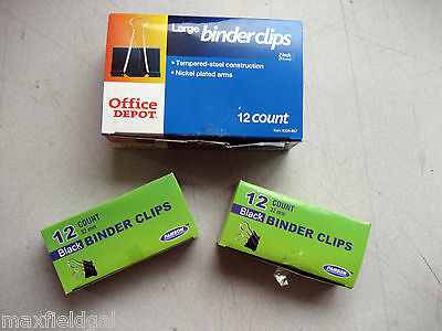 - Grab Bag #1 - NEW 3 boxes, Jumbo & Med. Binder Clips, Old stock, w/warranty