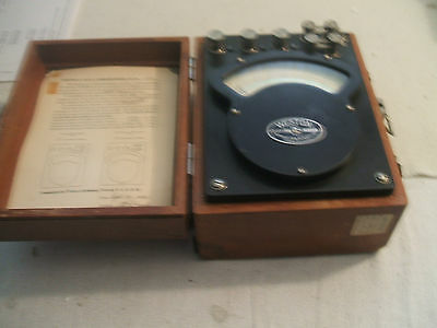 Weston Ac Dc Portable Electronometer Ammeter Model 370 Vintage 1953 Made Usa
