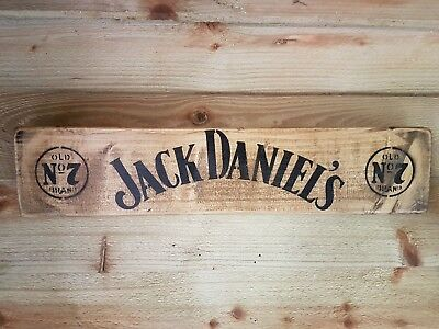 Jack Daniels Wooden Sign Rustic Wall Sign Man Cave Tennessee Whiskey