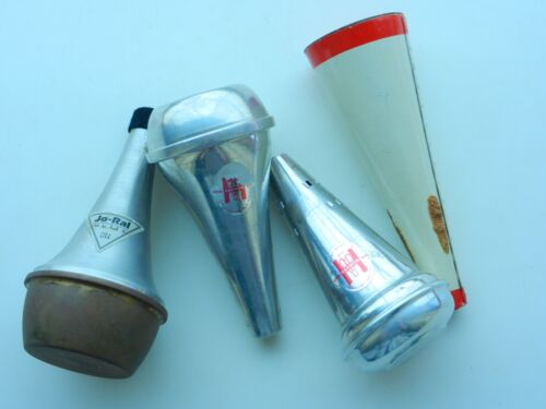4 Assorted Trumpet / Cornet MUTES Jo-Ral Harmon Humes - All Need Corks