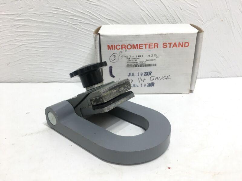 Vintage Machinist Micrometer Stand + Box