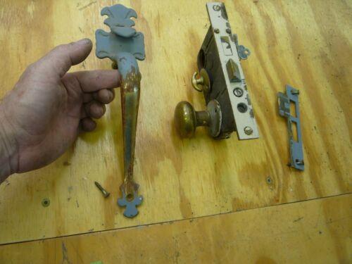 Front Door Brass Handle with lock