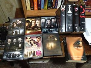 All twilight movies and books , plus new Stephanie Meyer