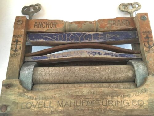 Vintage Anchor Brand Wringer Washer Top by Lovell Manufacturing Art Deco Clamps