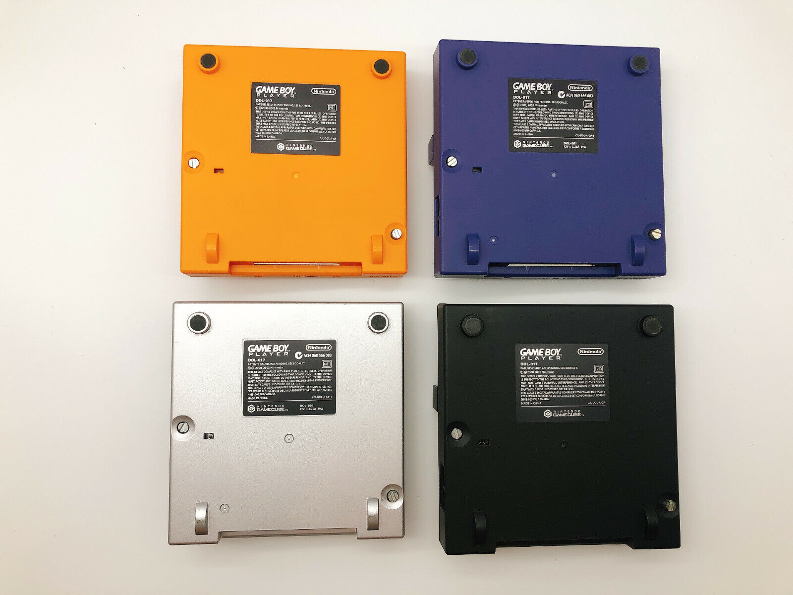 【4variations】Nintendo GameCube Gameboy Player & Startup Disc VIolet Orange