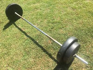 WEIGHT BAR WITH 34KG PLATES