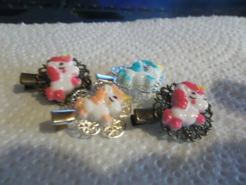 Jewelry Hair clips unicorn horse 2 sets (4) alligator clamp style  204 <><