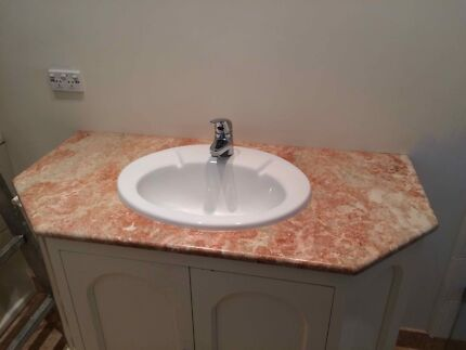 Marble Bathroom vanity top with Caroma basin and tap Leabrook Burnside Area Preview