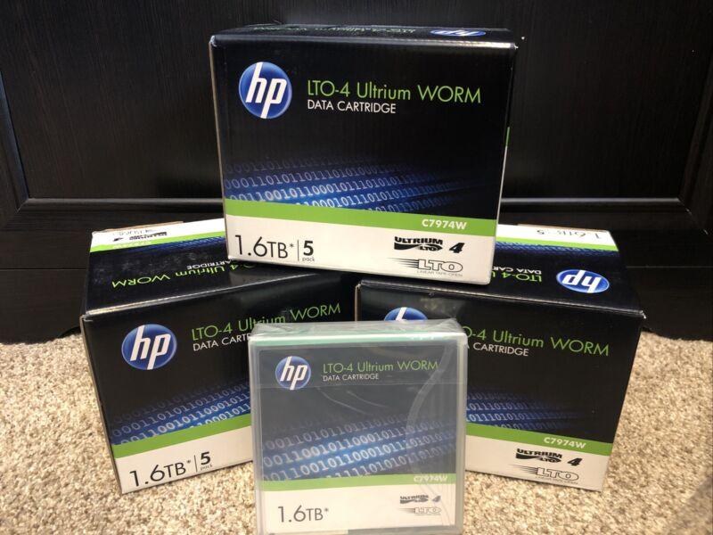 15 NEW HP LTO4 Ultrium 1.6TB WORM Data Tape Cartridges C7974W